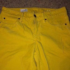 Gap yellow women's corduroys size 26